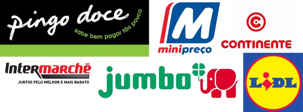Principais redes de mercados de Portugal - Pingo Doce, Minipreço, Continente, Intermaché, Jumbo, Lidl
