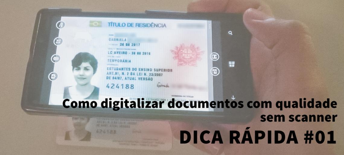 Como digitalizar documentos com qualidade sem scanner #Dica rápida 01